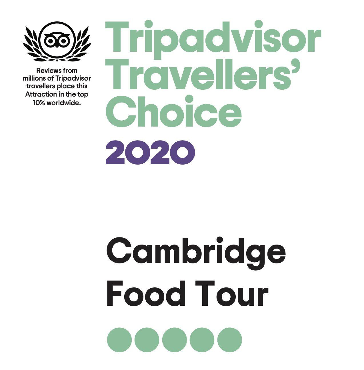 Cb travel guide Travellers award TripAdvisor 2020